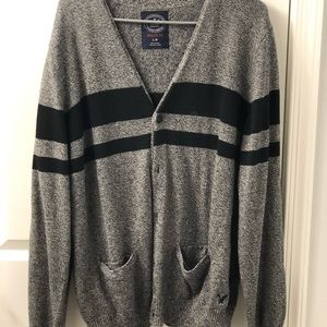 Men's cardigan sweater.